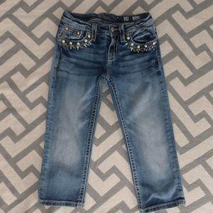Miss Me Capri Bling Girls Sz 14 Jeans